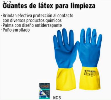 Guante latex