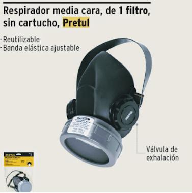 Respirador media cara